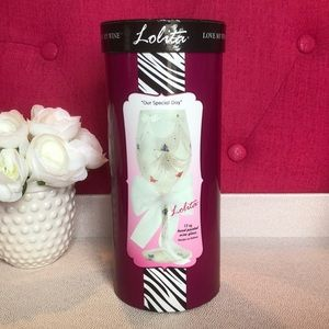 Lolita 'Our Special Day' Wine Glass